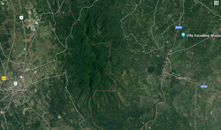 Satellite map shows the present boundary between Lipa and Tiaong.  Image credit:  Google Maps.