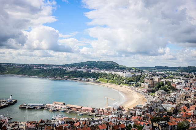 Scarborough from above, travel photography, mandy charlton