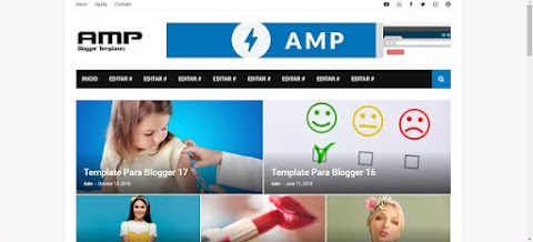 AMP Blogger Template Responsive