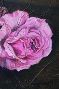 """Claudine Lecoustre : Portrait de rose - """"Après Fantin-Latour"""", Exposition de produits dérivés inspirés par l'univers du peintre Henri Fantin-Latour, Galerie de la Marraine"""