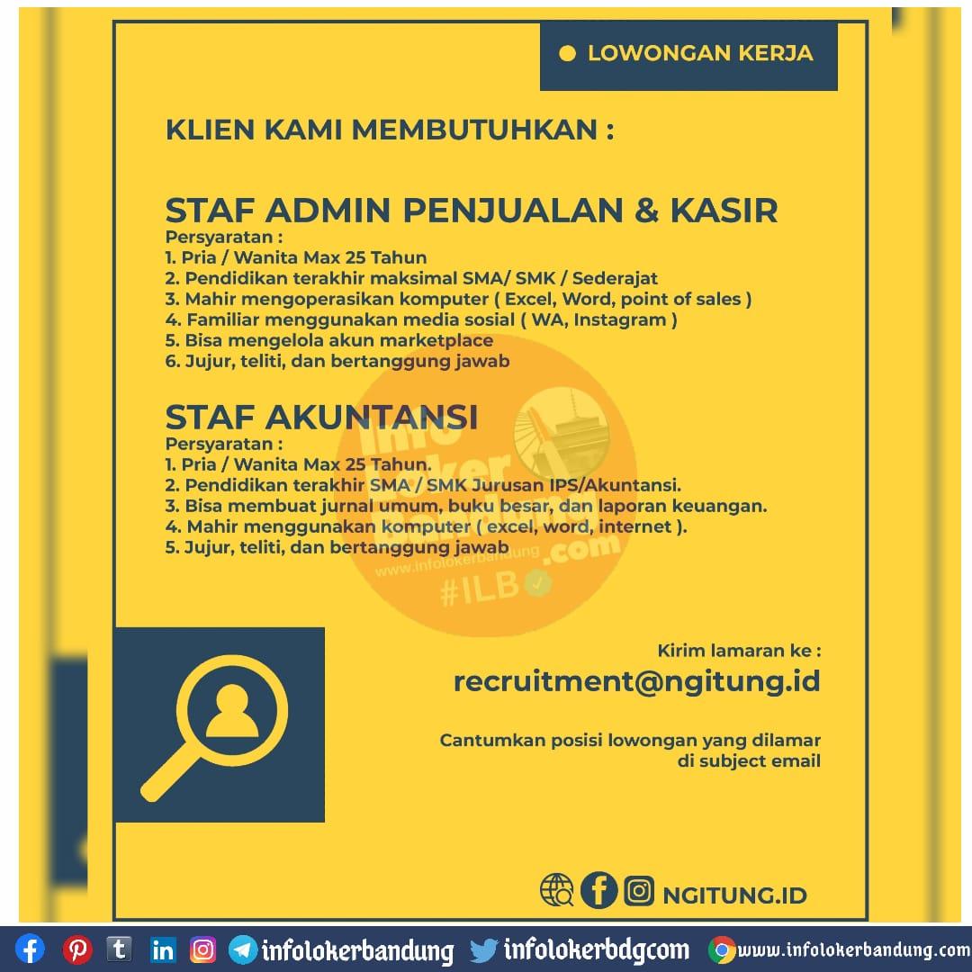 Lowongan Kerja Ngitung.id Bandung November 2020