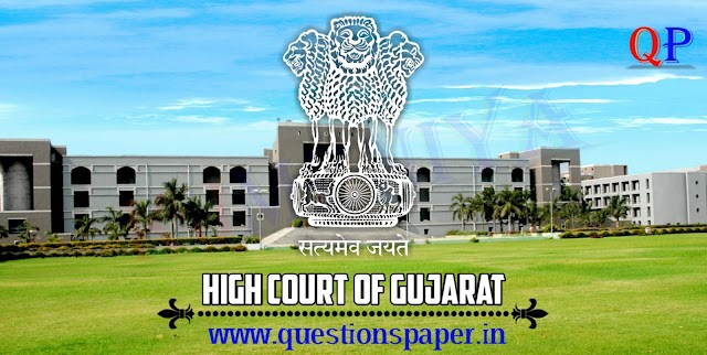 High Court of Gujarat Assistant Main Exam Question Paper (20-01-2019)