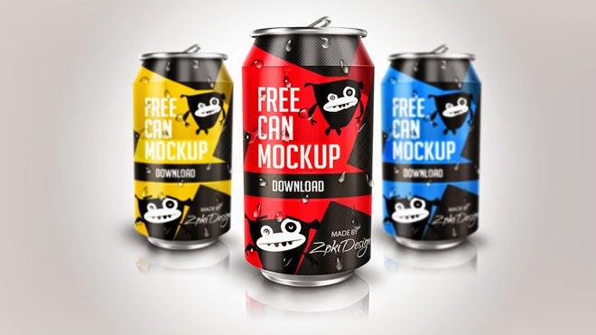 Drink Soda Can PSD Mockup