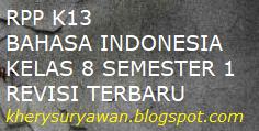 File Pendidikan RPP k13 Bahasa Indonesia Kelas 8 Semester 1 Revisi Terbaru Tahun 2019/2020
