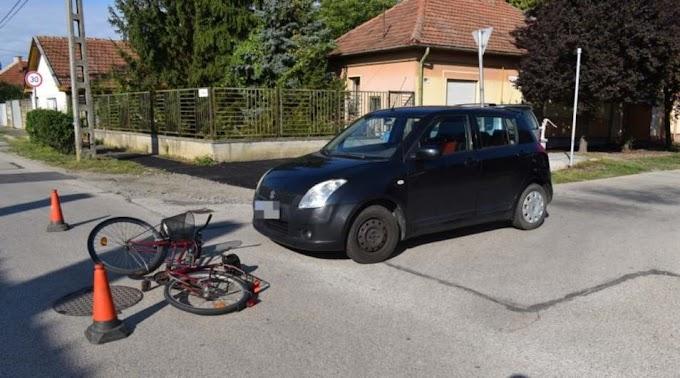Nem adott elsőbbséget a sofőr, megsérült a kerékpáros