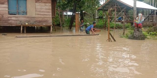Hujan Lebat, 185 Rumah Warga di Briem Bayeun Terendam Banjir
