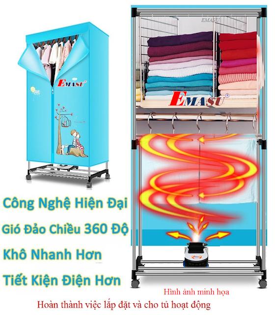 Nơi bán tủ sấy quần áo cao cấp chính hãng ở quận Hoàng Mai-Hà Nội