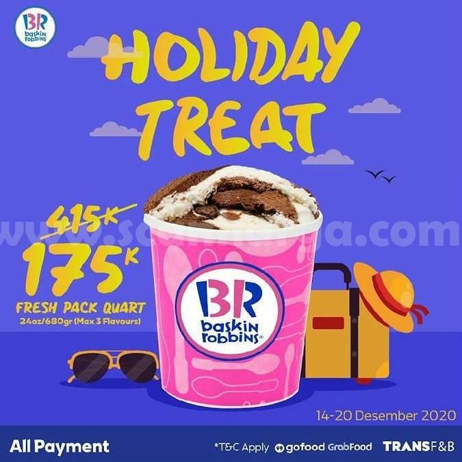 BASKIN ROBBINS Promo Holiday Treat – Harga Spesial Fresh Pack Quartz cuma Rp. 175.000