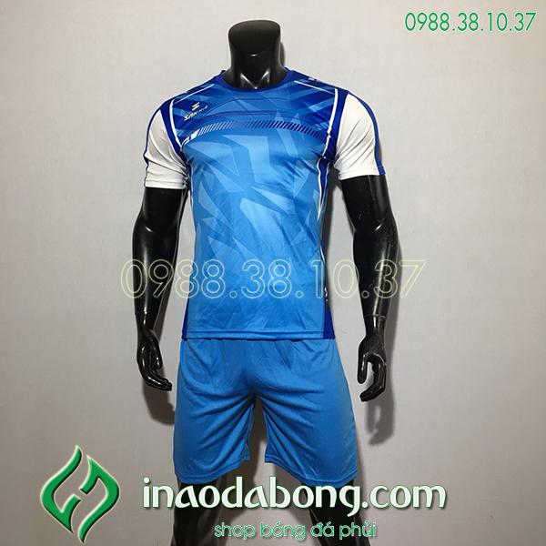 Áo Bóng Đá Ko Logo Saka HKC Màu Xanh