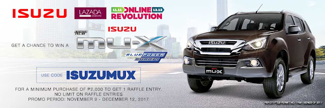 shop at lazada and win a brand new isuzu mux meiyah s