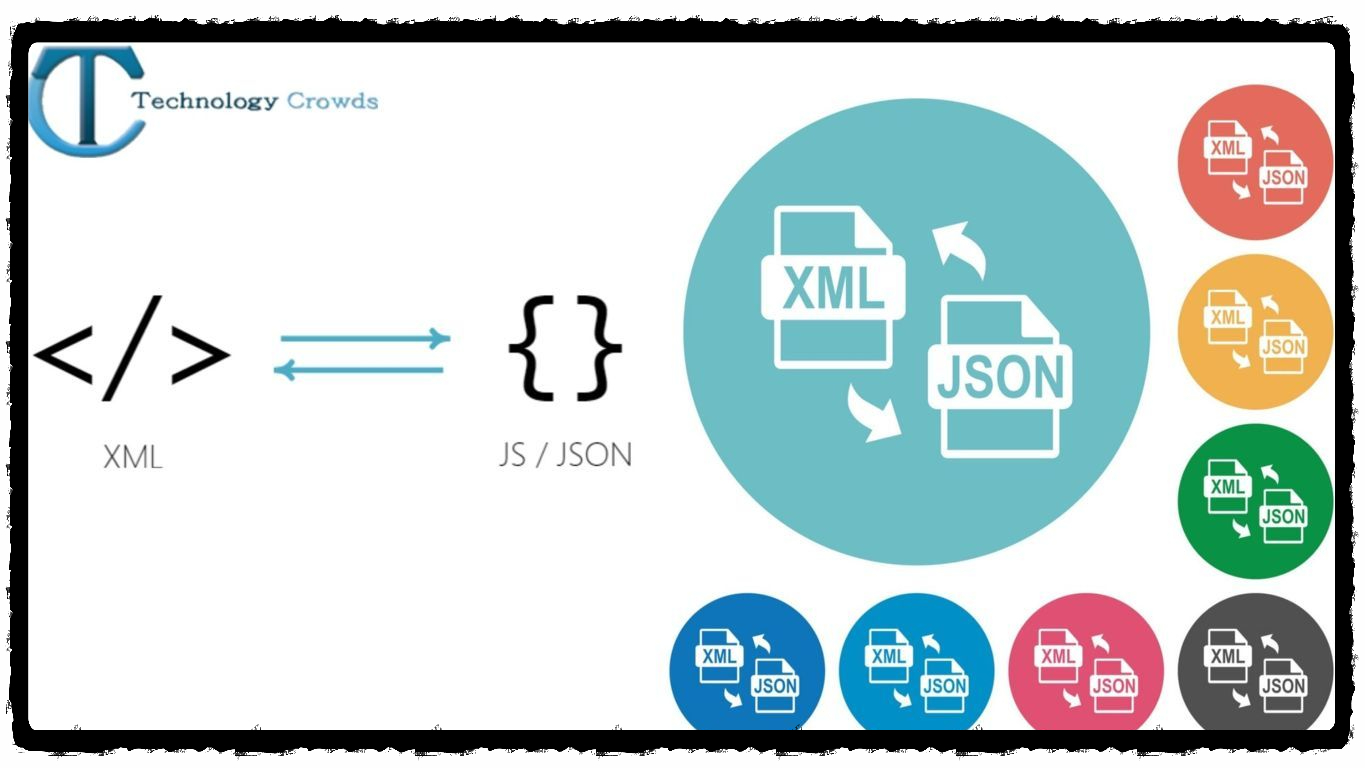 How can we convert XML format data to JSON format?