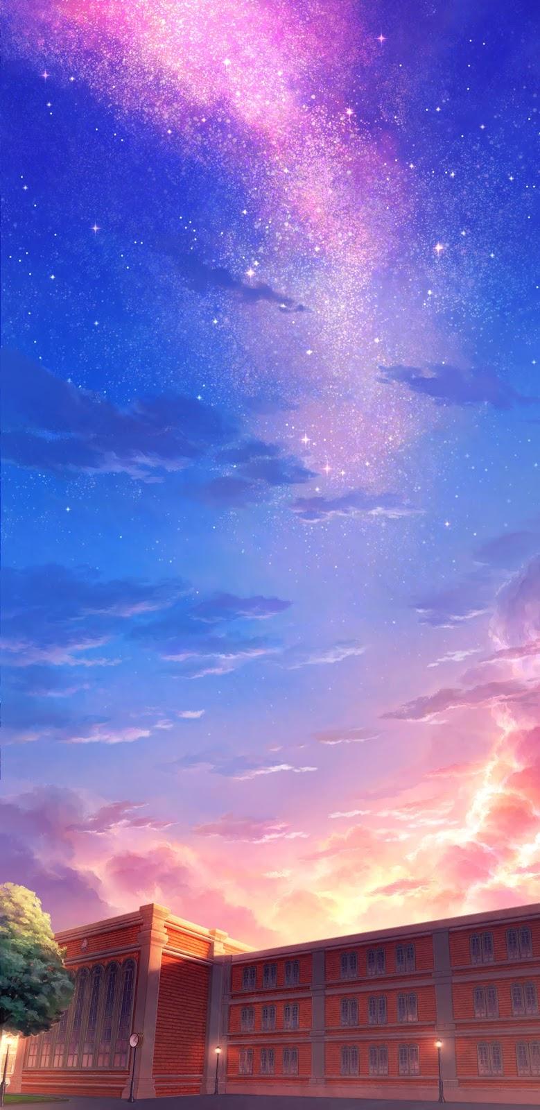Bầu trời với các vì sao đầy sắc màu