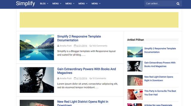 Simplify V2 Responsive Blogger Templates