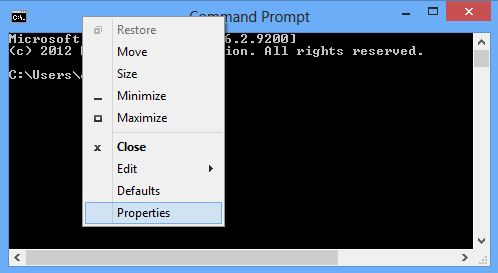 cmd properties