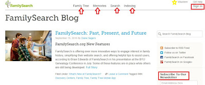 Updates for Those Who Use FamilySearch
