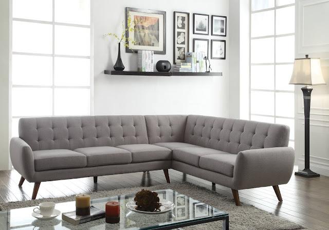 membuat ruang tamu minimalis indah dengan desain sofa bergaya retro