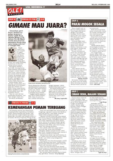 LIGA INDONESIA V: PERSIJA VS PSBL 0-0