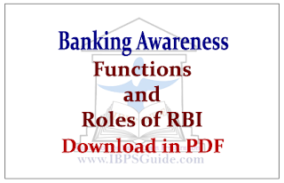 Roles and Functions of RBI | Download in PDF