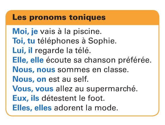Zaimki akcentowane - gramatyka 3 - Francuski przy kawie
