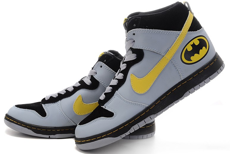 ... High Men Batman Robin Black Ye  From batman nike dunks shoes we can see  a black yellow with a white sole dc4a0f980