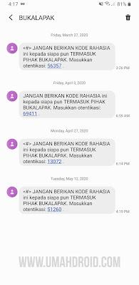 Kekurangan Kode OTP Lewat SMS