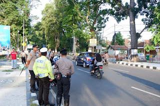 Hindari Kemacetan Mudik, Kapolres Mataram Pimpin Pemantauan Arus Lalu Lintas.