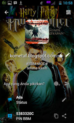 BBM MOD v3.0.1.25 Harry Potter the Shadow Ghost APK modifikasi