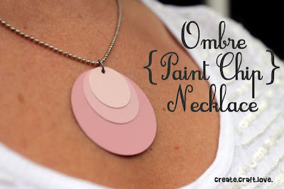 Ombre Paint Chip Necklace Craft