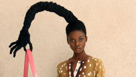 Laetitia Ky Collaborates With Marc Jacobs Showcasing Their Latest Handbag Collection Using Her Signature Hair Sculptures