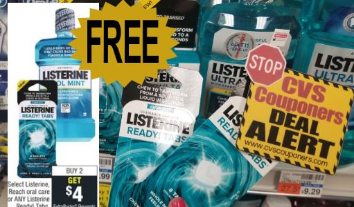 free Listerine Ready Tabs at cvs