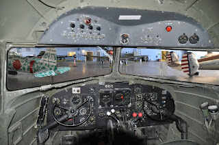 airplane controls in a C-47