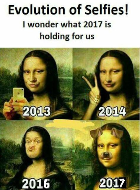 selfie mona lisa segun años