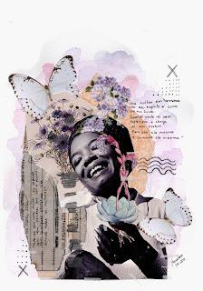 Colagem Maya Angelou por Maria Rosa