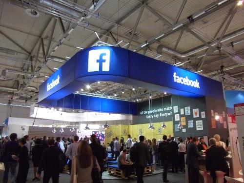 dmexco 2014: der Facebook-Stand.