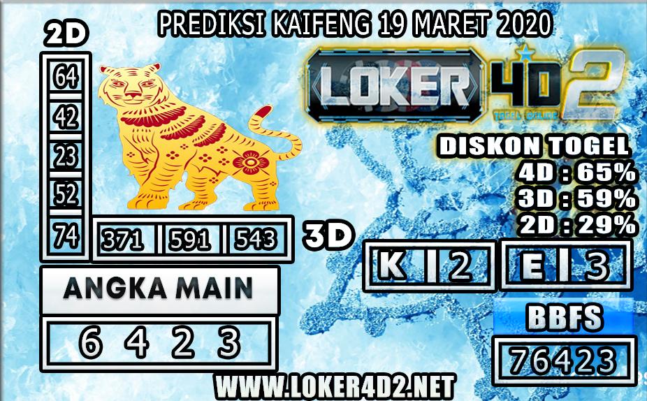 PREDIKSI TOGEL KAIFENG  LOKER4D2 19 MARET 2020
