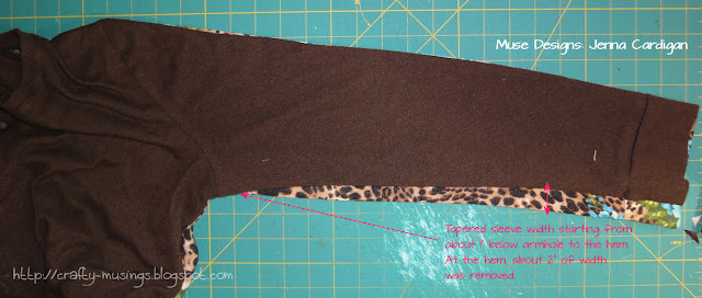 Jenna cardigans, sleeve comparisons