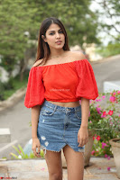 Rhea Chakraborty in Red Crop Top and Denim Shorts Spicy Pics ~  Exclusive 248.JPG