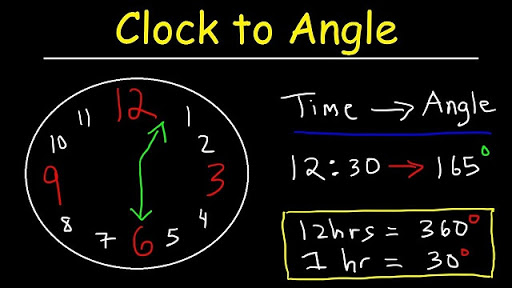 find angle in clock needle in hindi