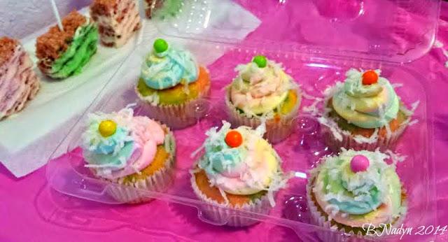 Coconut Cupcakes, Rainbow Cupcakes