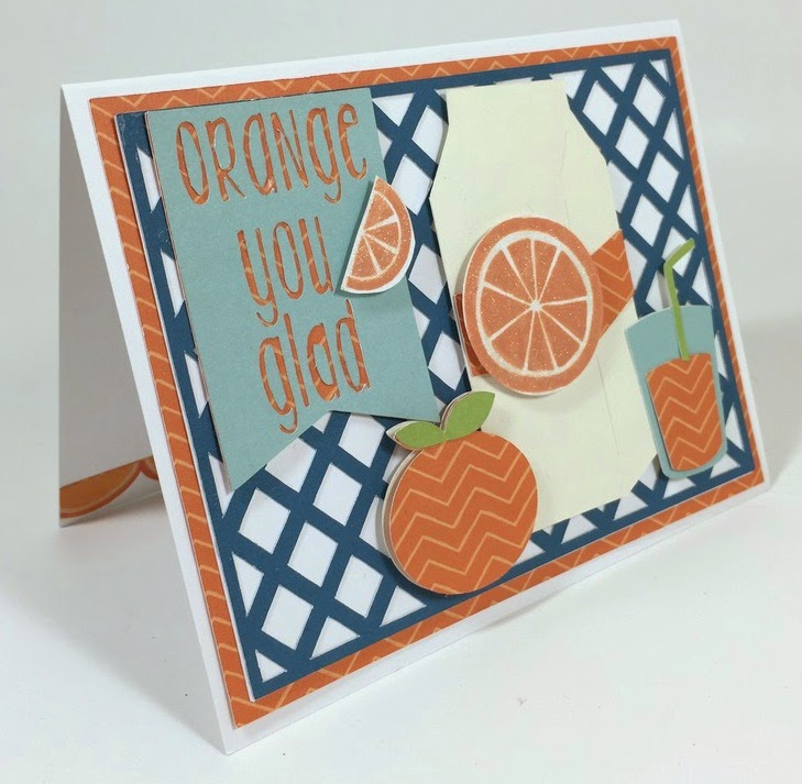 Cricut Orange You Glad card