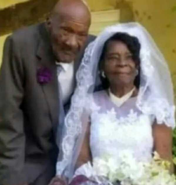 93 years old woman married her 73 years old boyfriend