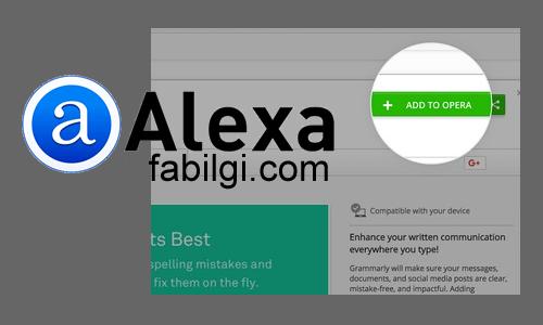 Opera Alexa Toolbar Eklentisi Nasıl İndirilir? Alexa Opera İndir