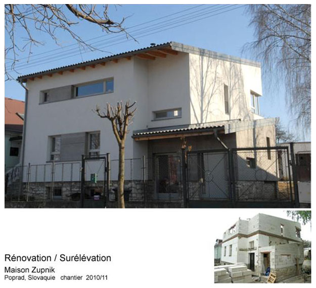 Rénovation Surélévation maison contemporaine-slovaquie-architecte-labokub-lille