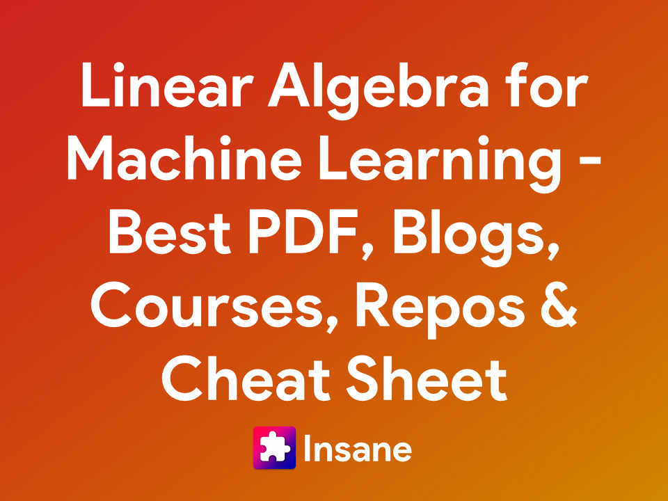 Linear Algebra for Machine Learning