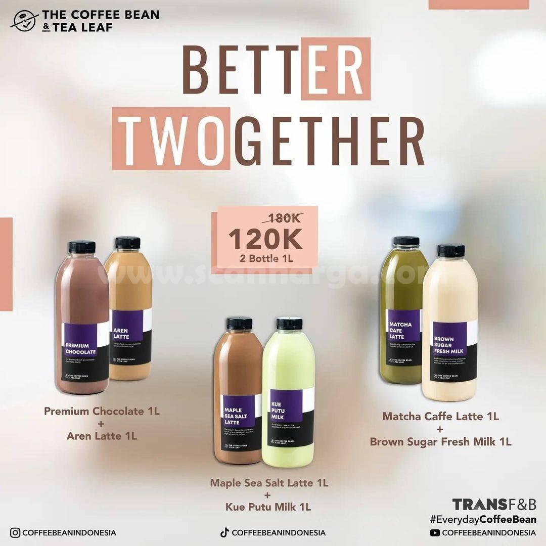 Coffee Bean Promo Better Twogether (2 Big Bottle 1 Liter) harga cuma 120K