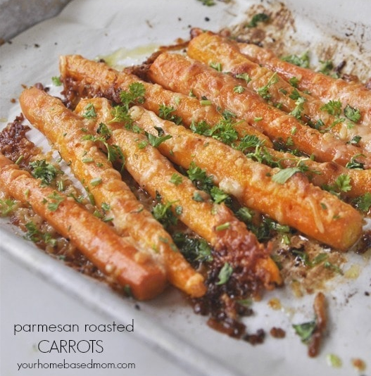Parmesan Roasted Carrots #healthyeating #parmeasan