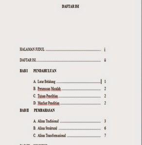 Contoh Penulisan Format Daftar Isi Yang Benar Webmuara
