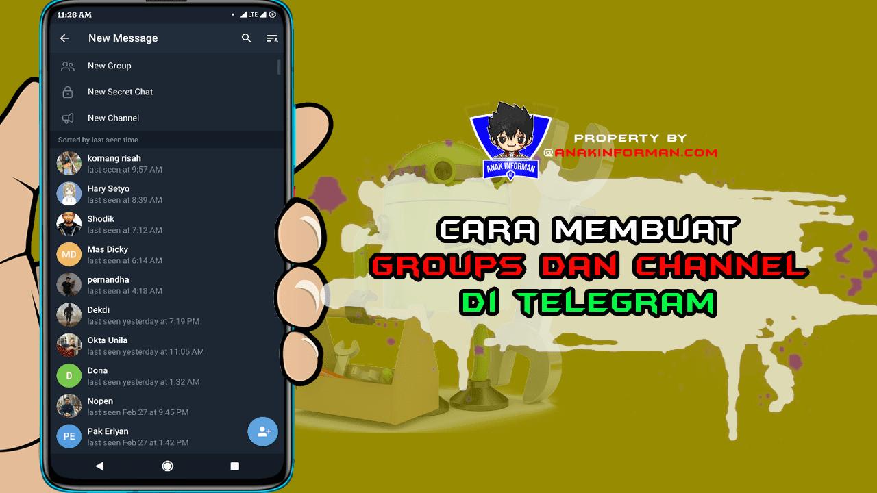 Cara Membuat Grup dan Channel Di Telegram