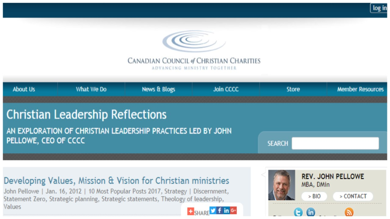 Canadian Council Of Christian Charities (Website)