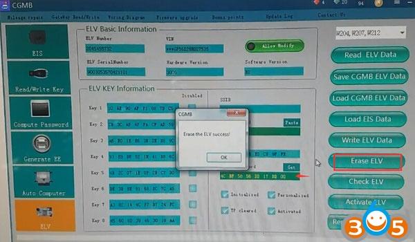 cgdi-mb-reset-w204-used-elv-6